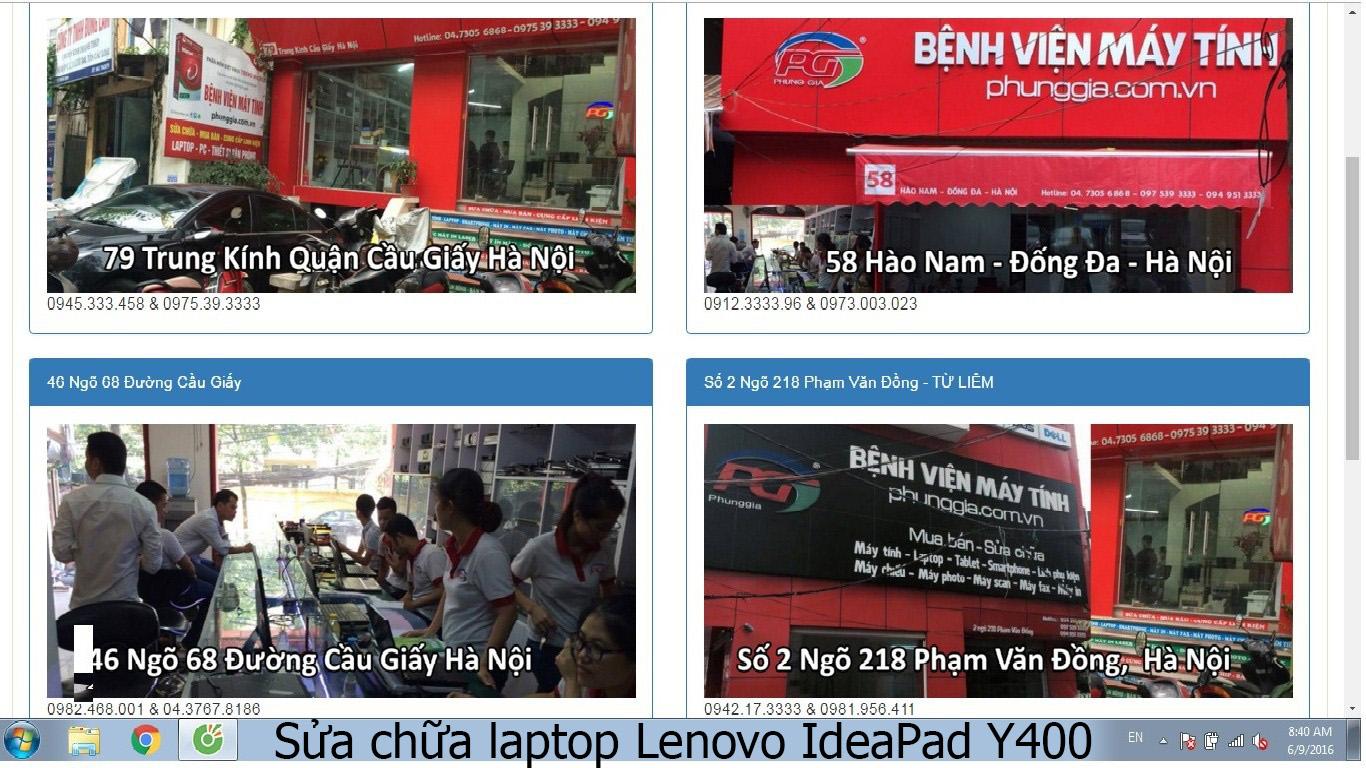 sửa chữa laptop Lenovo IdeaPad Y400