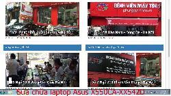 Bảo hành sửa chữa laptop Asus X550CA-XX542D, X550CC-CJ519H, X550CC-XO072D, X550CC-XX085D lỗi bị mờ hình